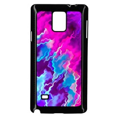 Stormy Pink Purple Teal Artwork Samsung Galaxy Note 4 Case (Black)
