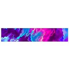 Stormy Pink Purple Teal Artwork Flano Scarf (Small)