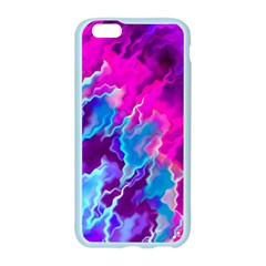 Stormy Pink Purple Teal Artwork Apple Seamless iPhone 6 Case (Color)