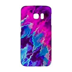 Stormy Pink Purple Teal Artwork Galaxy S6 Edge
