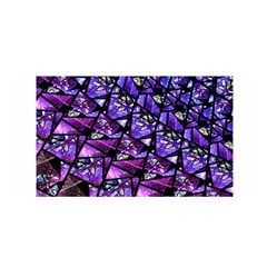 Blue purple Glass Satin Wrap