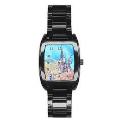 Castle For A Princess Stainless Steel Barrel Watch
