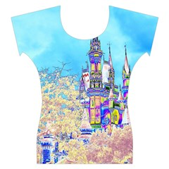 Castle For A Princess Women s Cap Sleeve Top
