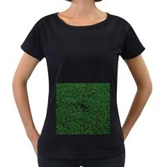 Green Moss Women s Loose-Fit T-Shirt (Black)