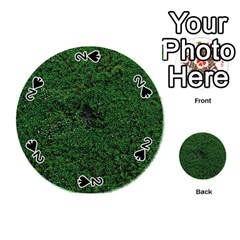 Green Moss Playing Cards 54 (Round)