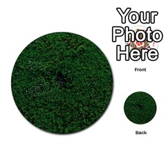 Green Moss Multi-purpose Cards (Round)