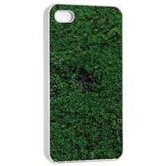 Green Moss Apple iPhone 4/4s Seamless Case (White)