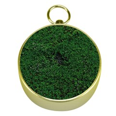 Green Moss Gold Compasses