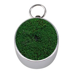 Green Moss Mini Silver Compasses