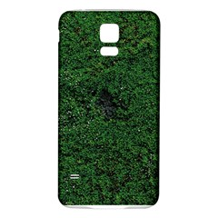 Green Moss Samsung Galaxy S5 Back Case (White)
