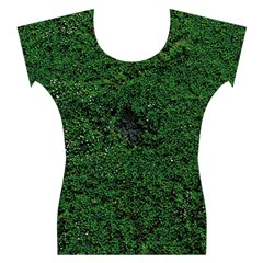 Green Moss Women s Cap Sleeve Top