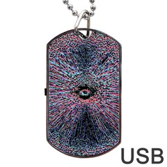 Million And One Dog Tag Usb Flash (one Side)