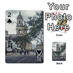 Cathedral At Historic Center Of Bogota Colombia Edited Playing Cards 54 Designs