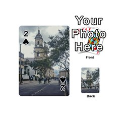 Cathedral At Historic Center Of Bogota Colombia Edited Playing Cards 54 (Mini)