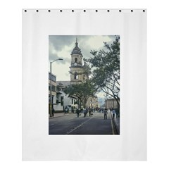 Cathedral At Historic Center Of Bogota Colombia Edited Shower Curtain 60  X 72  (medium)
