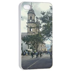 Cathedral At Historic Center Of Bogota Colombia Edited Apple Iphone 4/4s Seamless Case (white)