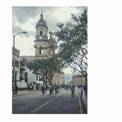 Cathedral At Historic Center Of Bogota Colombia Edited Large Garden Flag (Two Sides)