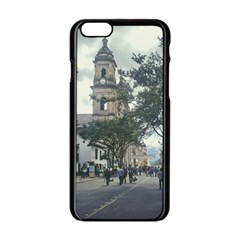 Cathedral At Historic Center Of Bogota Colombia Edited Apple Iphone 6 Black Enamel Case