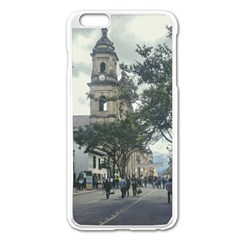 Cathedral At Historic Center Of Bogota Colombia Edited Apple Iphone 6 Plus Enamel White Case