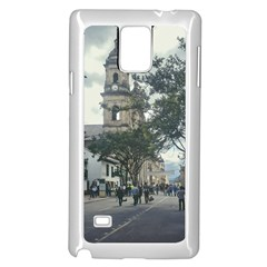 Cathedral At Historic Center Of Bogota Colombia Edited Samsung Galaxy Note 4 Case (White)