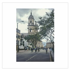 Cathedral At Historic Center Of Bogota Colombia Edited Large Satin Scarf (Square)