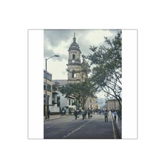 Cathedral At Historic Center Of Bogota Colombia Edited Satin Bandana Scarf
