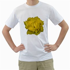 Isolated Yellow Rose Photo Men s T Shirt (white) (two Sided)