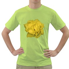 Isolated Yellow Rose Photo Green T-Shirt