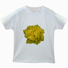 Isolated Yellow Rose Photo Kids White T-Shirts