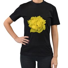 Isolated Yellow Rose Photo Women s T Shirt (black) (two Sided)