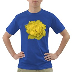 Isolated Yellow Rose Photo Dark T Shirt