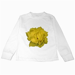 Isolated Yellow Rose Photo Kids Long Sleeve T-Shirts