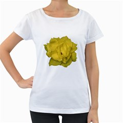 Isolated Yellow Rose Photo Women s Loose Fit T Shirt (white)