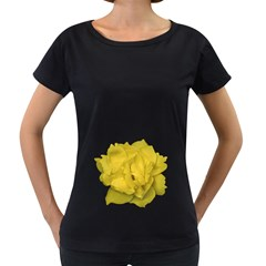 Isolated Yellow Rose Photo Women s Loose-Fit T-Shirt (Black)