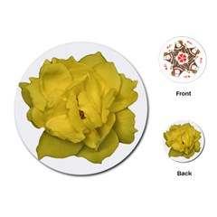 Isolated Yellow Rose Photo Playing Cards (Round)