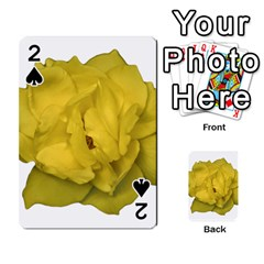 Isolated Yellow Rose Photo Playing Cards 54 Designs