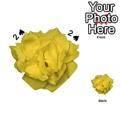 Isolated Yellow Rose Photo Playing Cards 54 (heart)