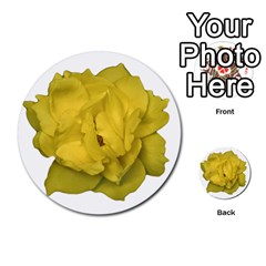 Isolated Yellow Rose Photo Multi Purpose Cards (round)