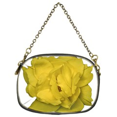 Isolated Yellow Rose Photo Chain Purses (one Side)