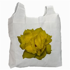 Isolated Yellow Rose Photo Recycle Bag (two Side)