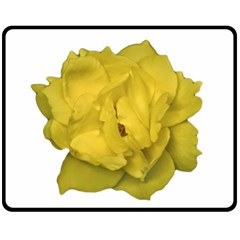 Isolated Yellow Rose Photo Fleece Blanket (Medium)