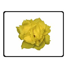 Isolated Yellow Rose Photo Fleece Blanket (Small)