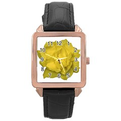 Isolated Yellow Rose Photo Rose Gold Watches