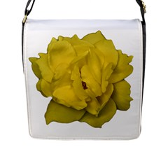 Isolated Yellow Rose Photo Flap Messenger Bag (l)