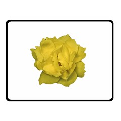 Isolated Yellow Rose Photo Double Sided Fleece Blanket (Small)