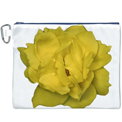 Isolated Yellow Rose Photo Canvas Cosmetic Bag (XXXL)