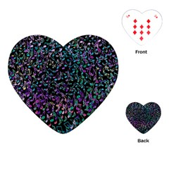Improvisational Music Notes Playing Cards (Heart)