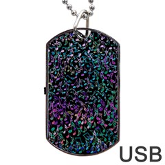 Improvisational Music Notes Dog Tag Usb Flash (one Side)