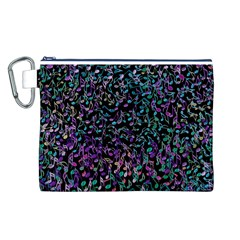 Improvisational Music Notes Canvas Cosmetic Bag (L)