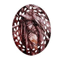 The Bleeding Tree Oval Filigree Ornament (2-Side)